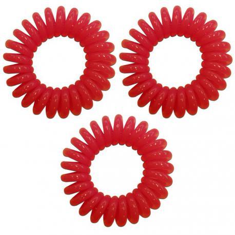 1d326eabcdc Spirálové gumičky do vlasů červené - Salon Komplet